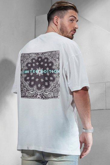 White Limited Edition Bandana Back Print T-shirt