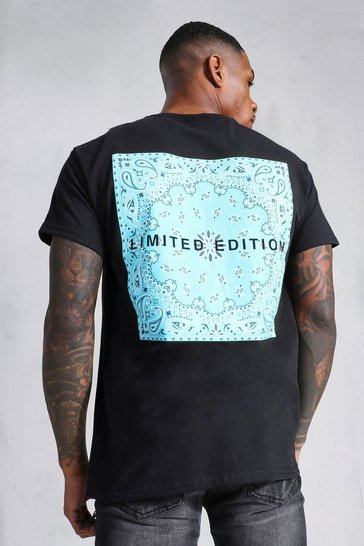 Black Limited Edition Bandana Back Print T-shirt