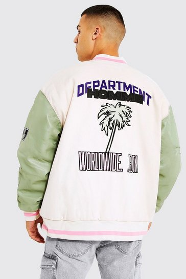 Mint green Oversized Department Homme Varsity Jacket