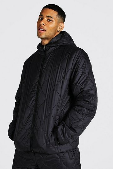 Black Onion Quilted Zip Through Jacket