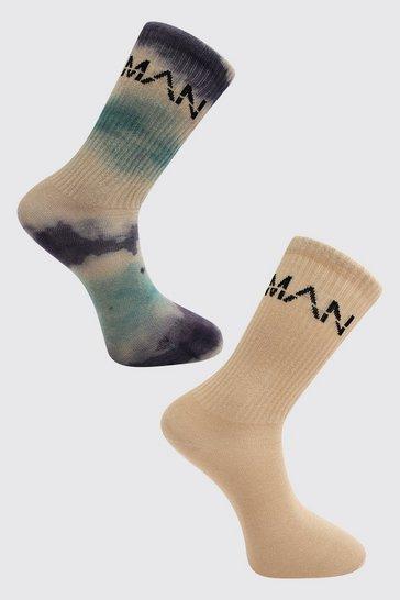 Purple 2 Pack Man Dash Tie Dye Socks