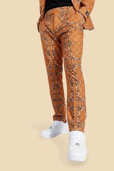 Tan Skinny Bandana Suit