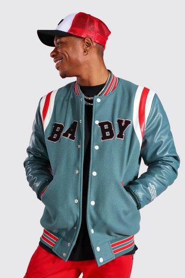 Teal green Sports Varsity Jacket