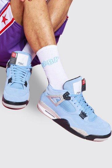 White 3 Pack Jacquard Socks