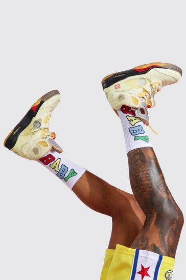 Red 3 Pack Jacquard Socks