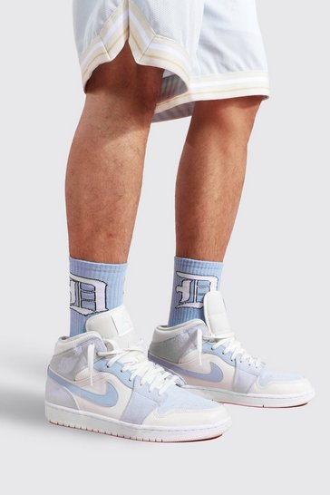 Blue 2 Pack Jacquard Socks