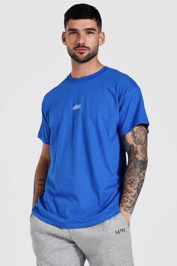 Cobalt blue Offcl Embroidered T-shirt