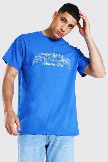 Cobalt blue Official Man Members Club T-shirt