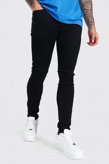 Black Super Skinny Fit Jean Contains Organic Cotton