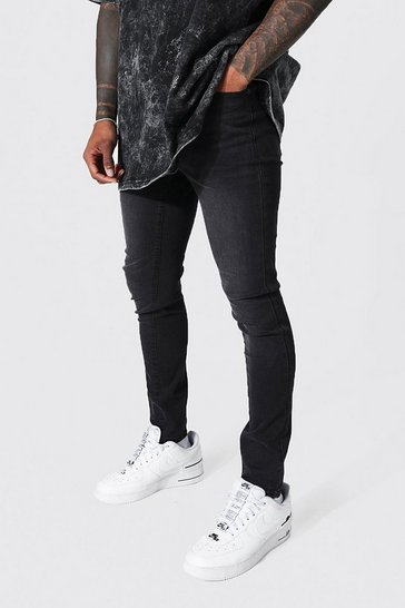 Charcoal grey Super Skinny Fit Jean Contains Organic Cotton