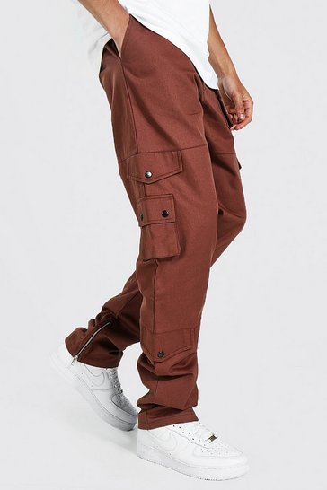 Rust orange Tall Relaxed Fit Twill Cargo Trouser