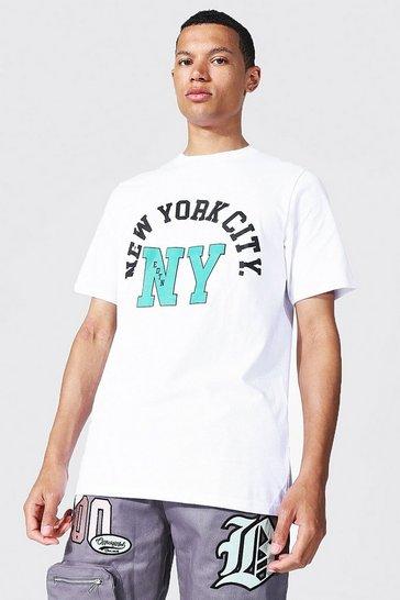 White Tall New York Varsity T-shirt