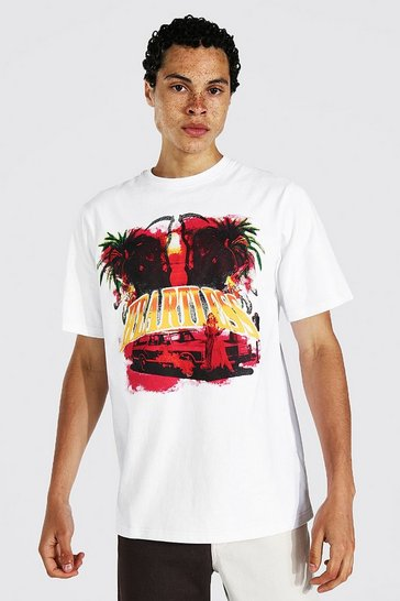 White Tall Heartless Back Print T-shirt