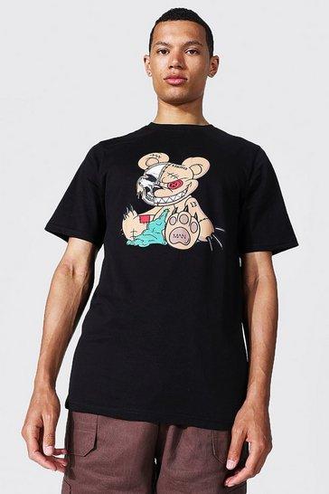 Black Tall Man Official Teddy T-shirt