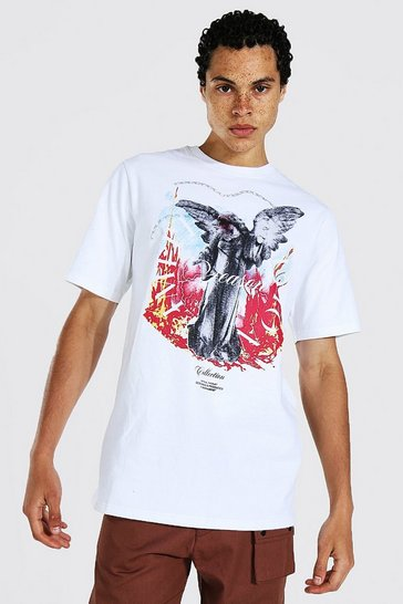 White Tall Angel Limited T-shirt With Back Print