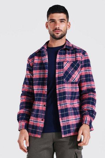 Pink Regular Check Shirt