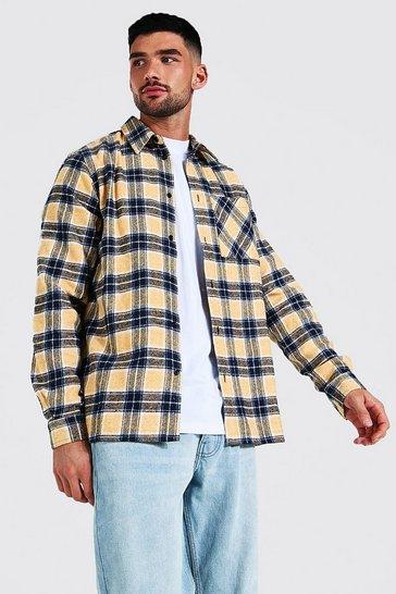 Yellow Regular Check Shirt