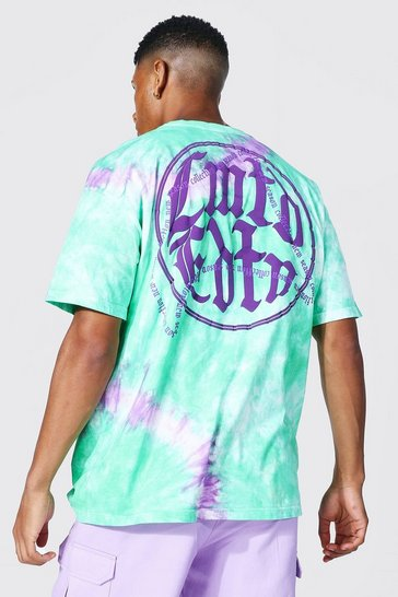 Green Oversized Limited Edition Tie Dye T-shirt