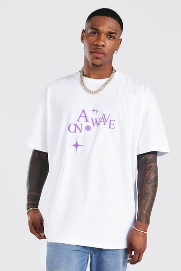 White Oversized Back Print T-shirt