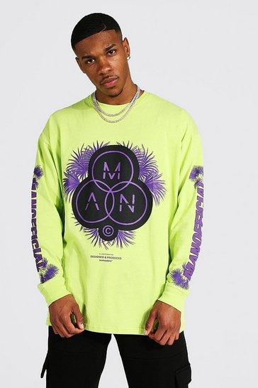 Lime green Oversized Man Official Long Sleeve T-shirt