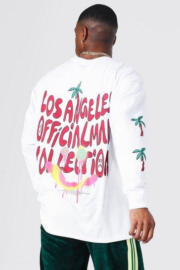 White Oversized Official Man Long Sleeve T-shirt