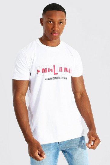 White England Flag Infill Printed T-shirt