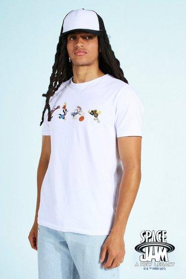 White Space Jam Graphic License T-shirt