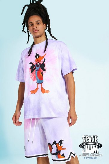 Pink Oversized Space Jam Daffy License T-shirt