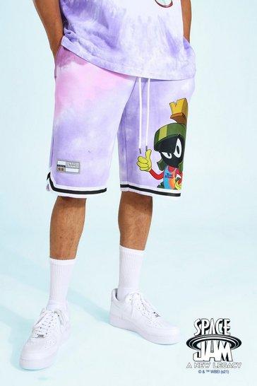 Purple Space Jam Marvin Basketball License Short