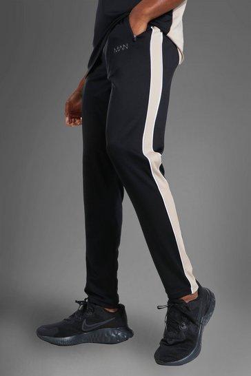 Black Man Active Side Stripe Jogger