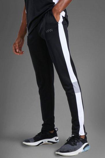 Black Man Active Colour Block Jogger