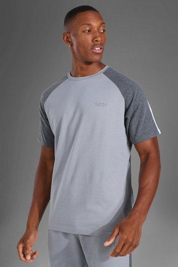 Grey Man Active Side Stripe T-shirt