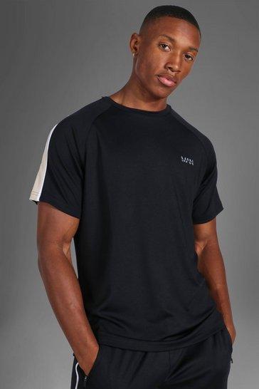 Black Man Active Side Stripe T-shirt