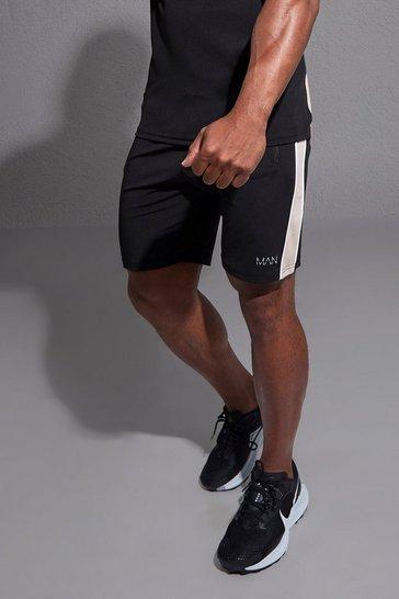 Black Man Active Side Stripe Short