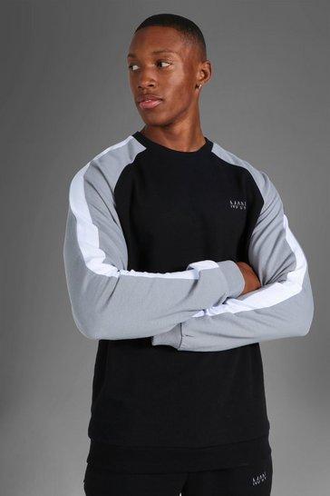 Black Man Active Side Stripe Sweater