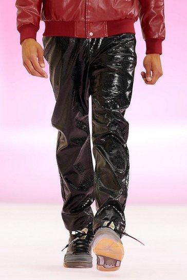 Black Slim Fit Pu Trouser
