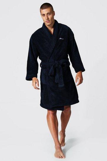 Navy Man Signature Fleece Dressing Gown