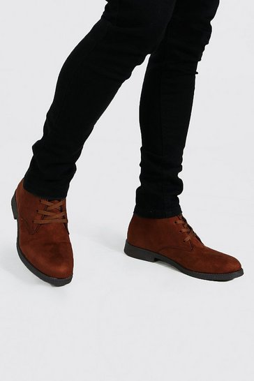 Chocolate brown Faux Suede Desert Boot