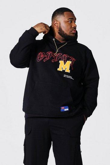 Black Plus Offcl M Varsity Badge Hoodie