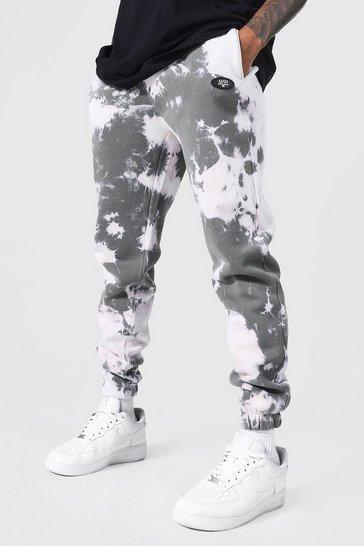 Grey Slim Fit Man Offcl Tie Dye Jogger