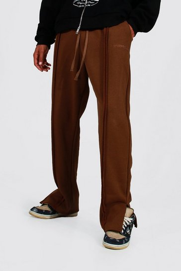 Chocolate brown Tall Relaxed Fit Man Official Jogger