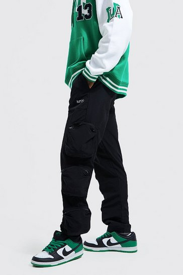 Black Original Man Shell 3d Pocket Cargo Trouser