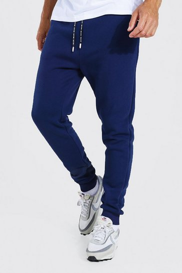 Navy Tall Skinny Jogger With Man Drawcords