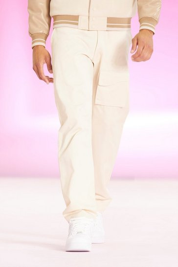 Stone beige Offcl Relaxed Fit Curved Pocket Trouser