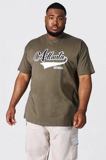 Khaki Plus Size Atlanta Varsity T-shirt