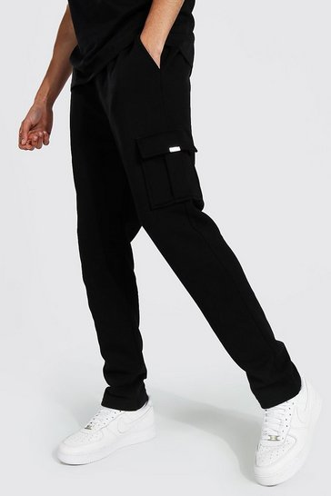 Black Tall Skinny Cargo Jogger With Metal Tab
