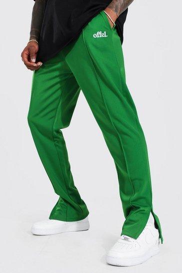 Forest green Slim Fit Official Tricot Split Hem Jogger