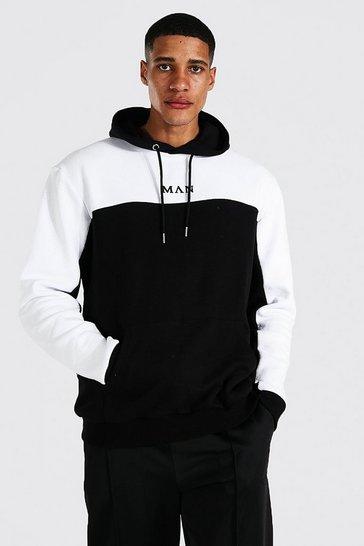 Black Tall Man Colour Block Hoodie