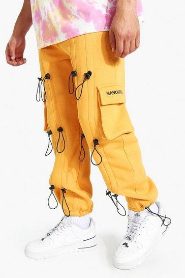 Yellow Regular Man Official Toggle Cargo Jogger