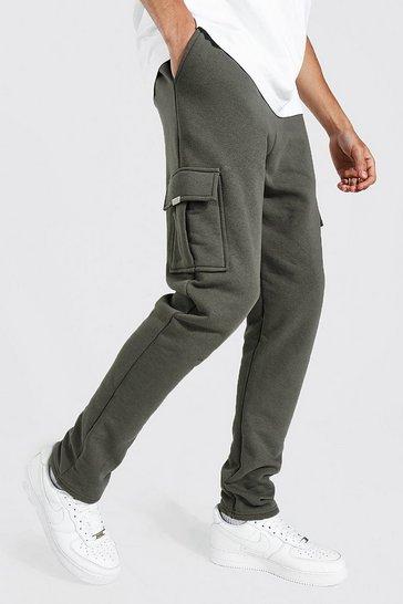 Khaki Tall Skinny Cargo Jogger With Metal Tab